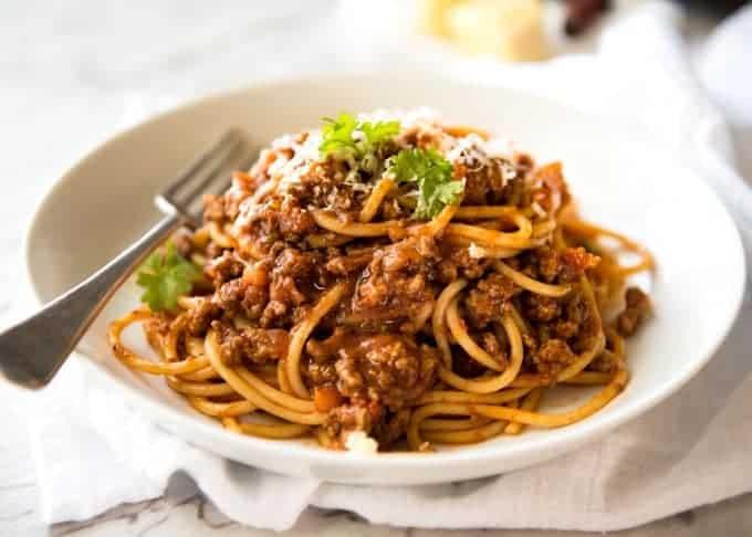 spaghetti bolognese ile ilgili görsel sonucu