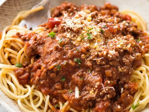 spaghetti bolognese recipetin eats