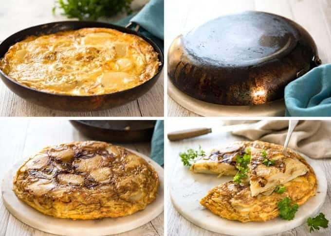 Spanish Omelette (Tortilla) - One of the best omelettes in the world, made with just eggs, potatoes, onion and olive oil! www.recipetineats.com