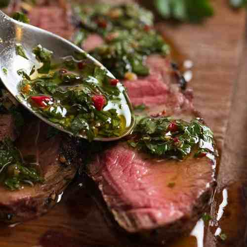 Skirt Steak With Chimichurri Sauce Recipetin Eats