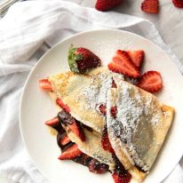 Nutella Crepes www.recipetineats.com