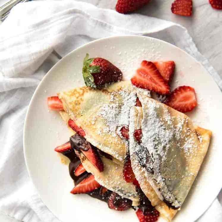 Nutella Crepes recipetineats.com