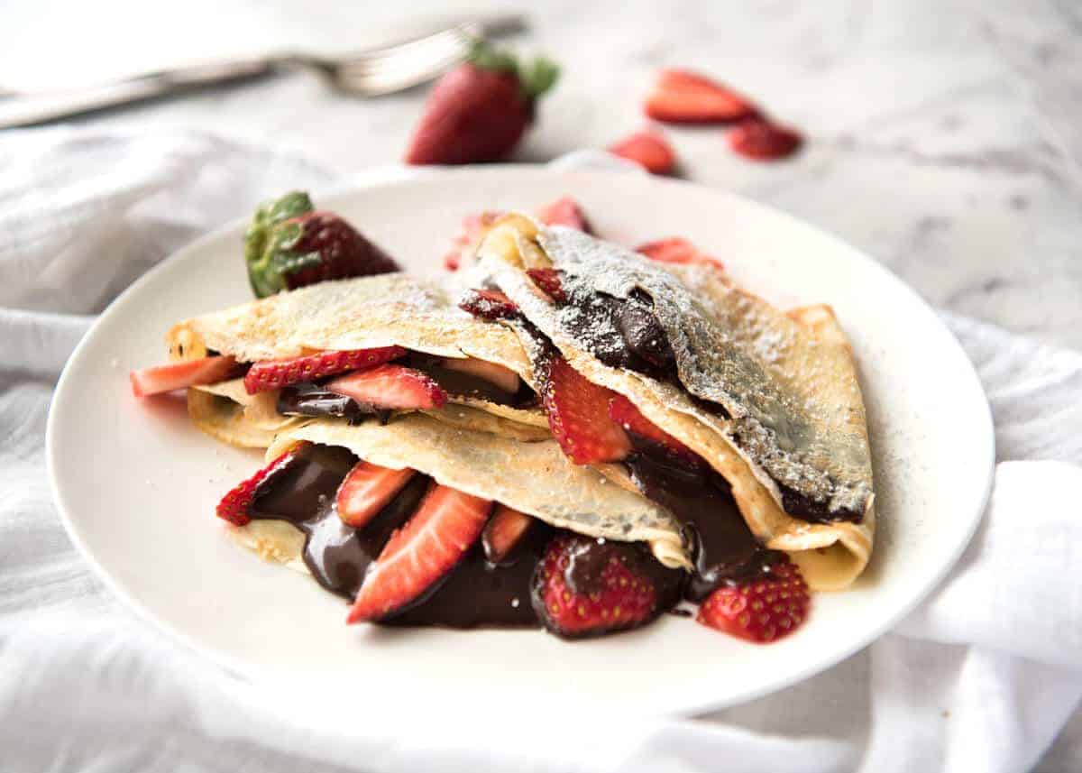 Nutella Crepes with Strawberries | RecipeTin Eats