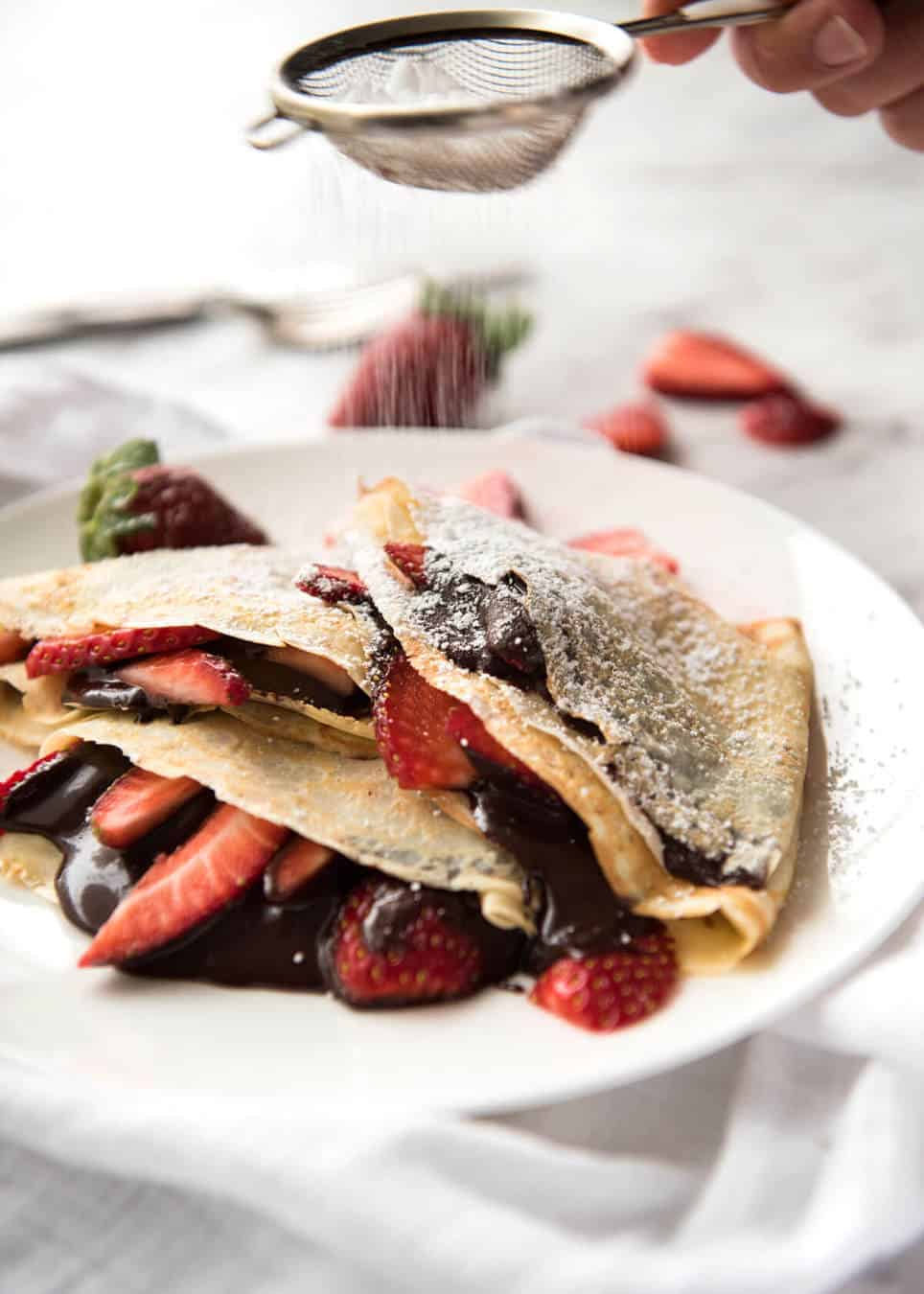 Nutella Crepes with Strawberries - The batter is a 10 second job when ...