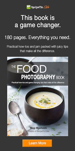 The Food Photography Book | By Nagi from RecipeTin Eats
