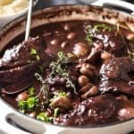 A traditional Coq au Vin recipe, with very tender chicken in a rich red wine sauce. Incredibly easy to make! www.recipetineats.com
