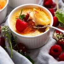 Spoon scooping up Creme Brûlée