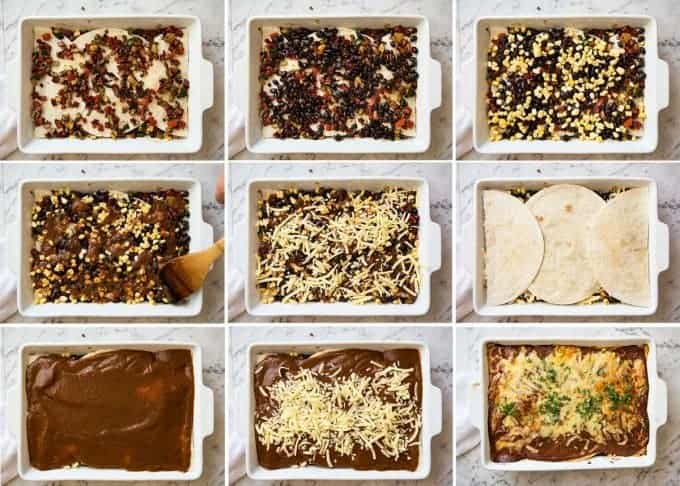 Vegetarian Mexican Caserole (Lasagna) - Fresh, healthy and loaded with Mexican flavours, just 342 calories per serving! www.recipetineats.com