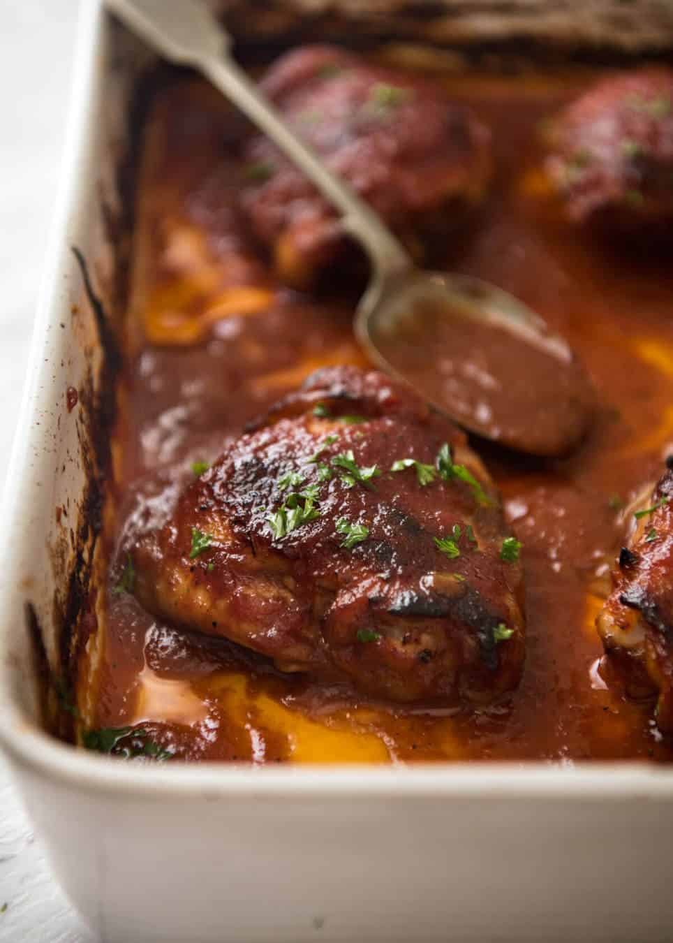 Gravy Smothered Chicken Thighs Recipe  Just A Pinch Recipes