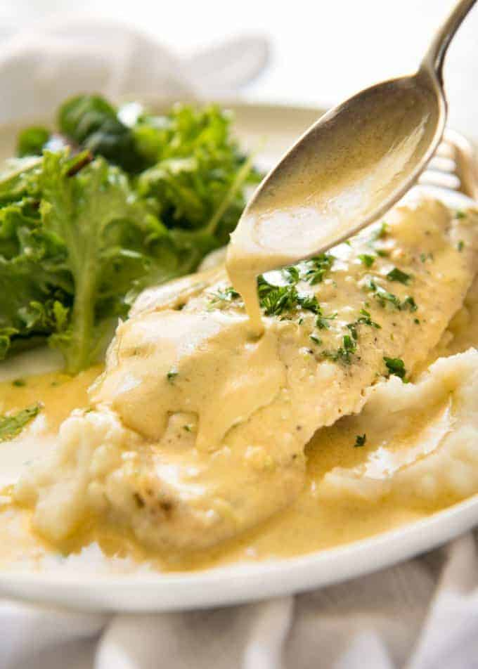 Baked Fish With Lemon Cream Sauce One Baking Dish