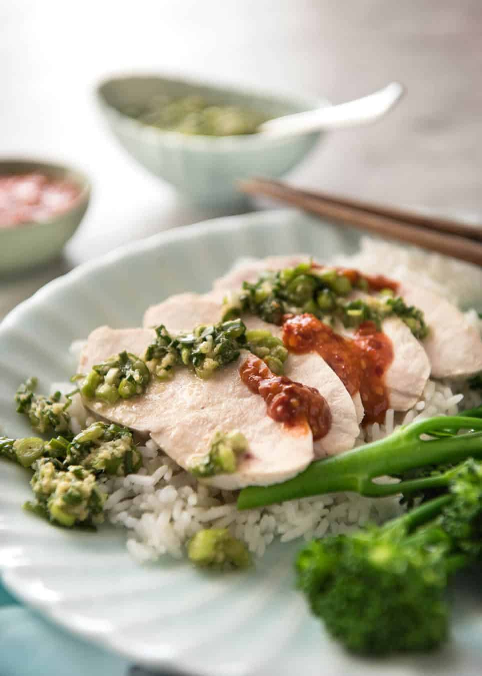 Asian style poached chicken words... fantasy