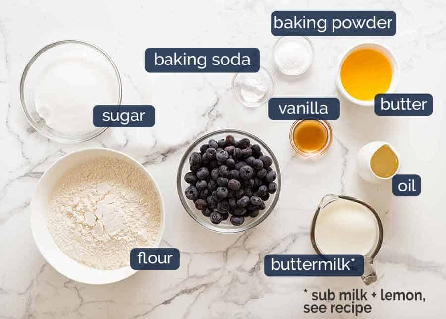 What you need for Blueberry Muffins