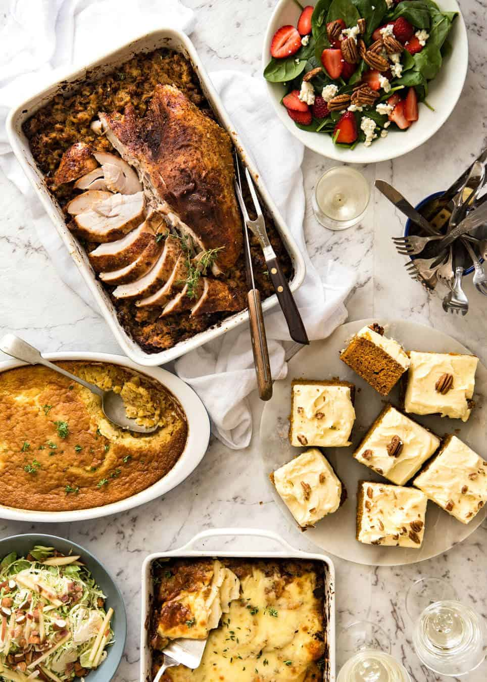 Easy Thanksgiving Menu - Cajun style! recipetineats.com