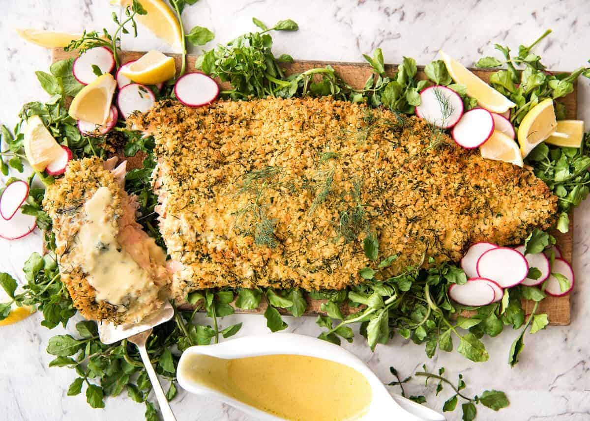 Can Baked Parmesan Crusted Salmon With Lemon Cream Sauce Easy And Fast To Make Can