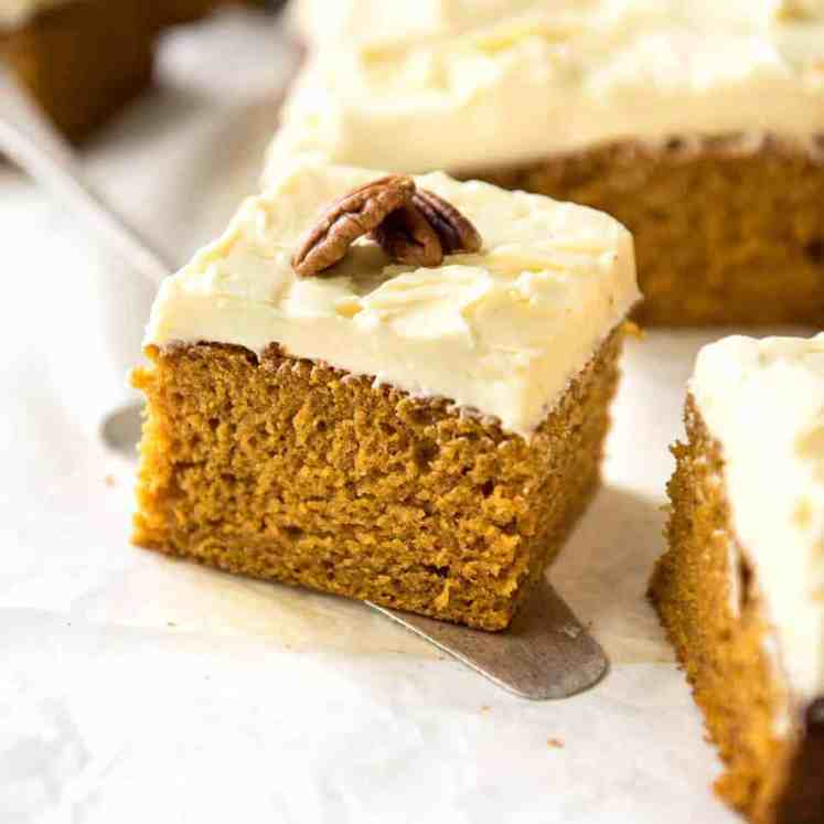 This Pumpkin Cake recipe is incredibly easy, fast and forgiving. The cake is tender and so moist, topped with a fluffy cream cheese frosting! recipetineats.com