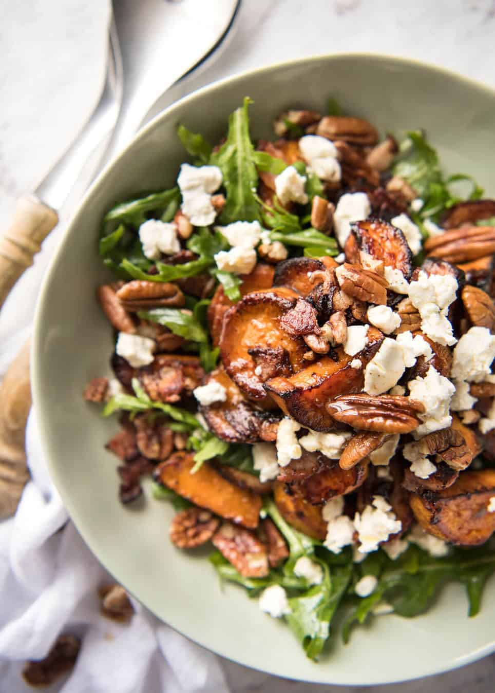 Roasted Sweet Potato Salad With Honey Lemon Dressing Recipetin Eats