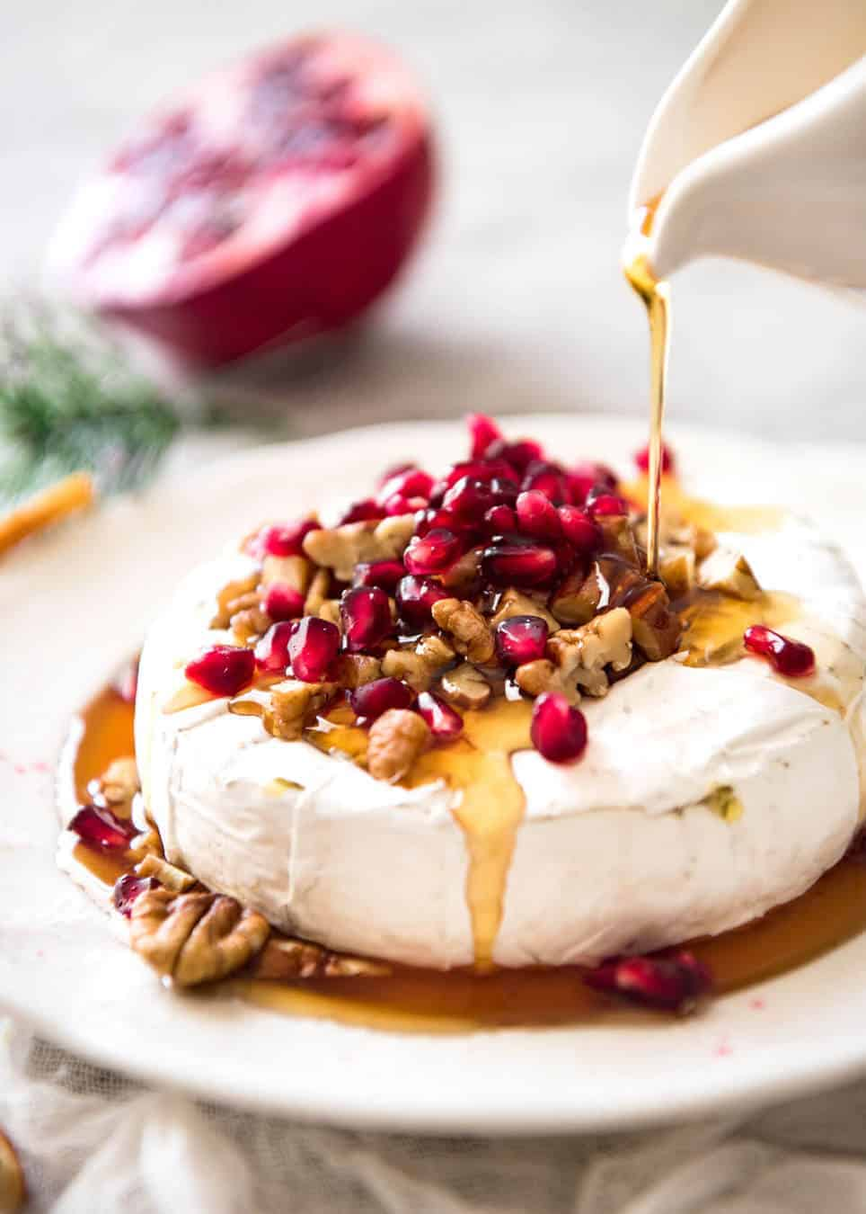 3 Minute Melty Festive Brie (Baked Brie) | RecipeTin Eats