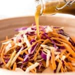 Asian Sesame Dressing - made with soy sauce, sesame oil, vinegar and sugar. Lasts for 3 weeks, an essential pantry standby! www.recipetineats.com