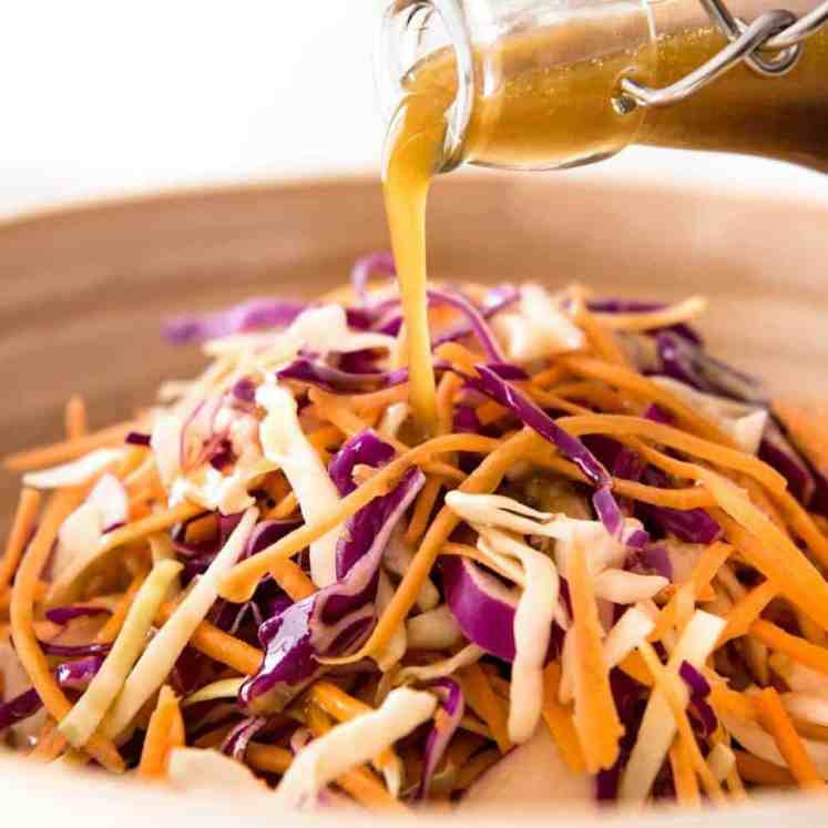 Asian Sesame Dressing - made with soy sauce, sesame oil, vinegar and sugar. Lasts for 3 weeks, an essential pantry standby! recipetineats.com