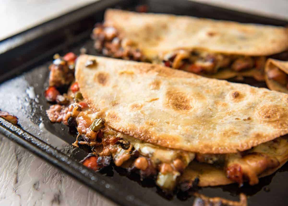 Oven Baked Chicken Quesadillas Recipetin Eats