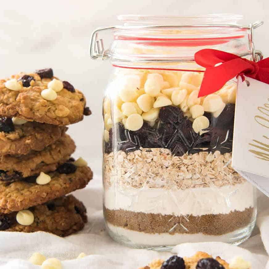 Cranberry Oatmeal Cookie Mix in a Jar