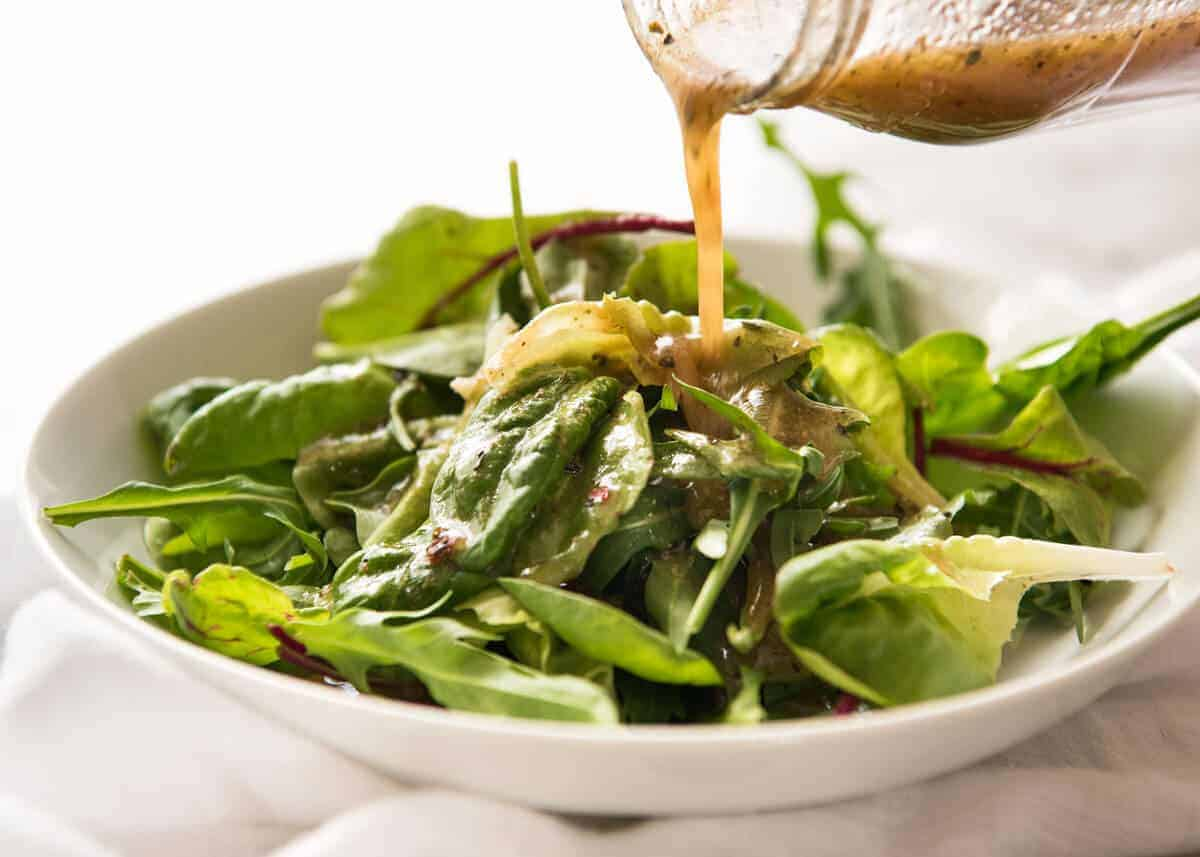 Italian Dressing - the one dressing everyone should ALWAYS have in the fridge! Keeps for 2 weeks. www.recipetineats.com