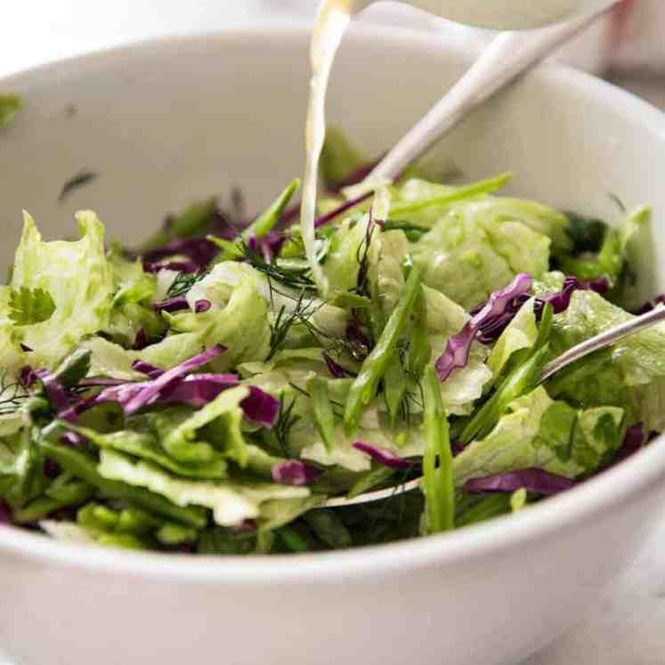 Iceberg Lettuce Salad with Dill www.recipetineats.com