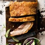 Chinese Crispy Pork Belly - Nobody does crispy pork belly like the Chinese. The secret to the best crackling you'll ever have is baking with a salt crust! www.recipetineats.com