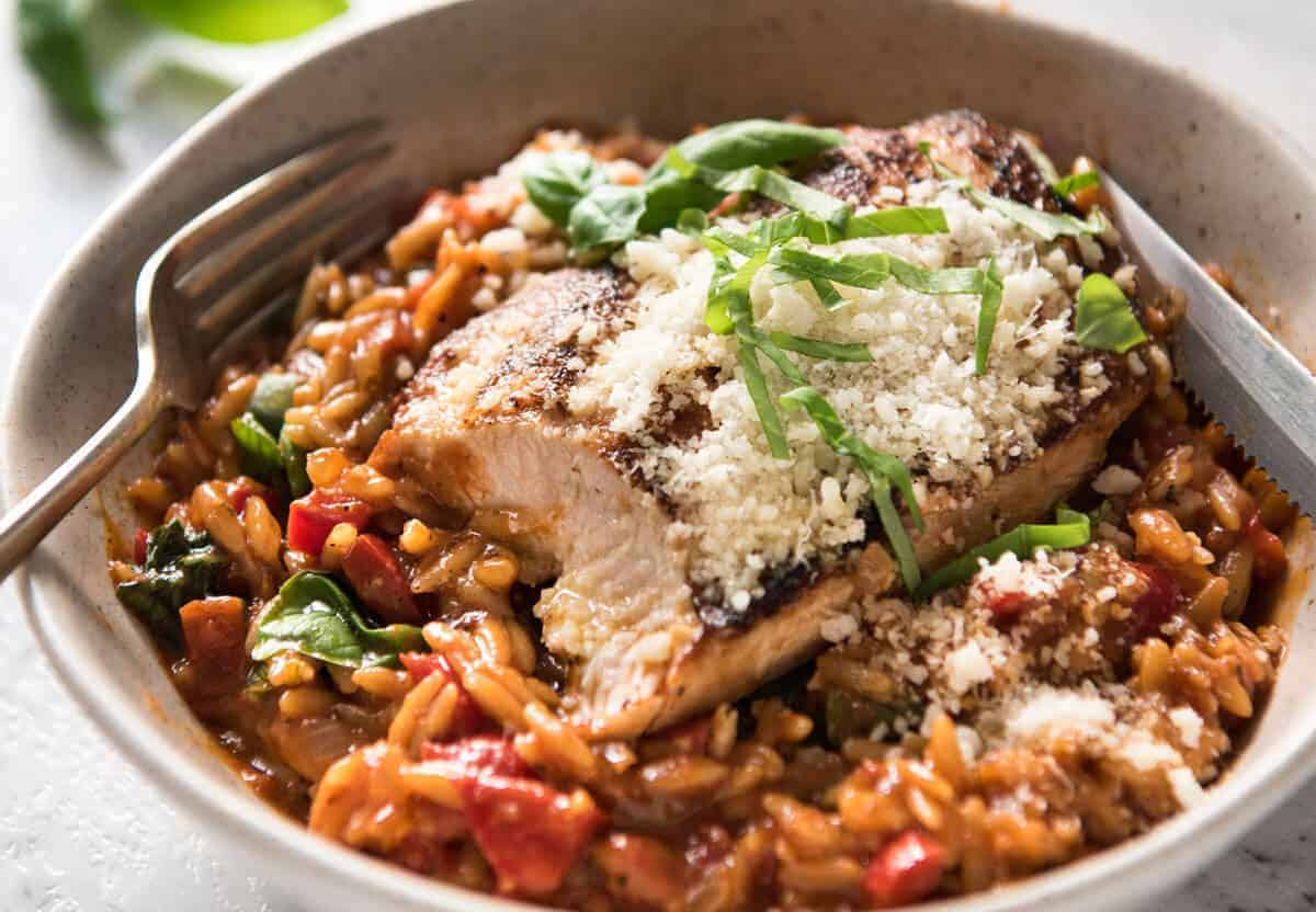 One pot italian chicken orzo risoni pasta recipetin eats risoni pasta recipe with chicken italian chicken with a tomato basil risoni pasta recipe forumfinder Choice Image
