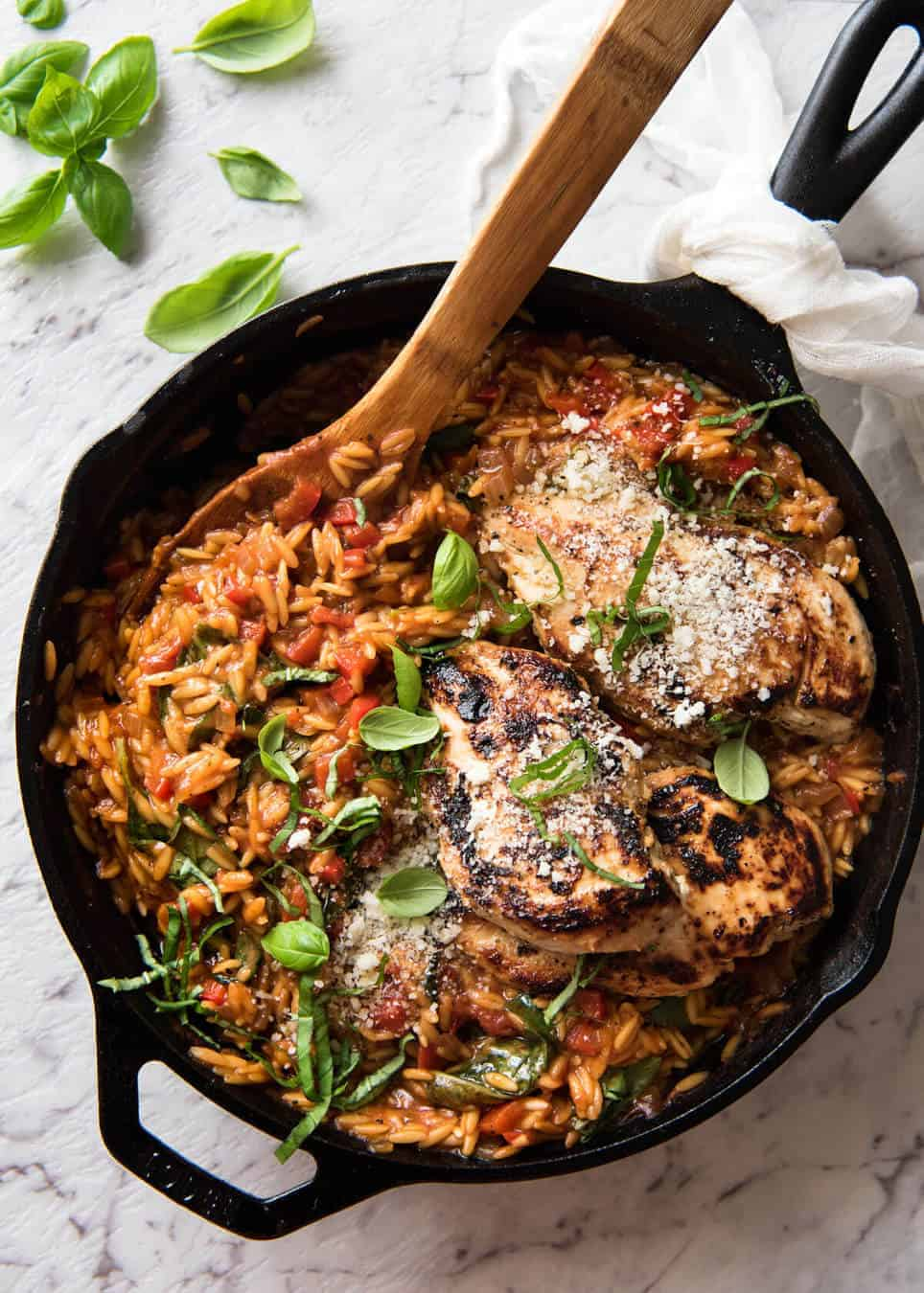 One pot italian chicken orzo risoni pasta recipetin eats risoni pasta recipe with chicken italian chicken with a tomato basil risoni pasta recipe forumfinder Gallery