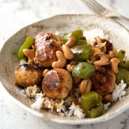 Cashew Chicken Meatballs