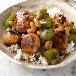 Cashew Chicken Meatballs - chicken mince recipe (ground chicken recipe)