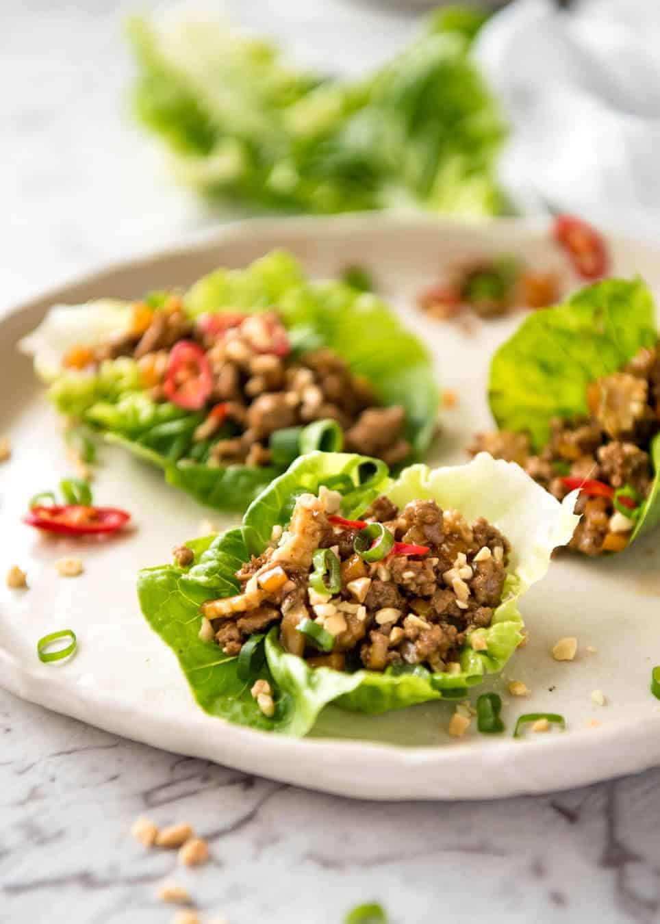 San Choy Bow (Chinese Lettuce Cups) - A great San Choy Bow starts with a great sauce. Get that right and you can make this with almost anything! recipetineats.com