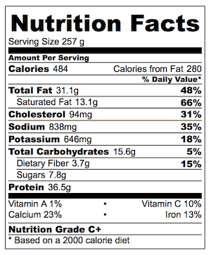 Satay Chicken Stir Fry nutrition