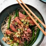 Beef Soba Noodle Bowl - Super quick to make and tastes absolutely incredible. The dressing is so tasty! www.recipetineats.com