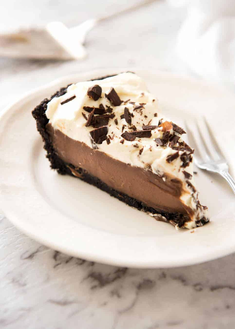 Chocolate Cream Pie | RecipeTin Eats