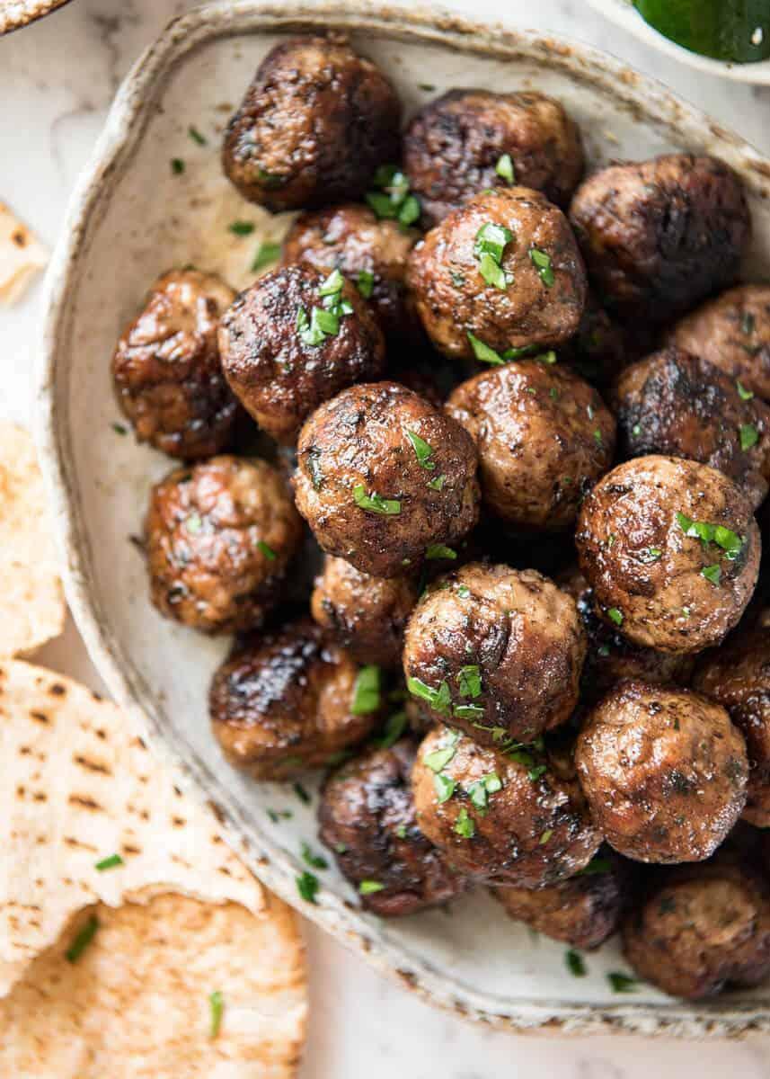 Greek Meatballs Keftedes Recipetin Eats