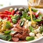 This Italian Pasta Salad with Homemade Italian Dressing is a hit at gatherings! www.recipetineats.com