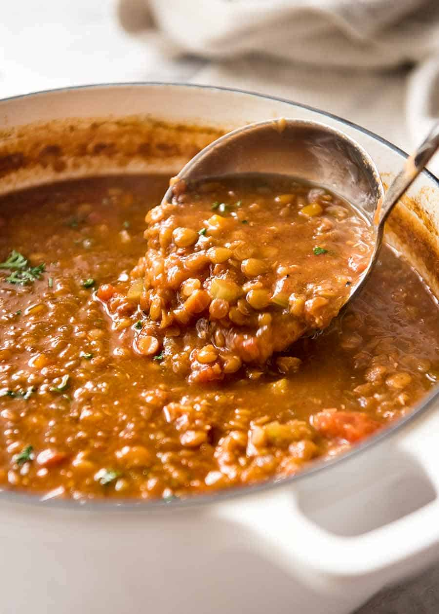 Lentil Soup Seriously Amazing Recipetin Eats