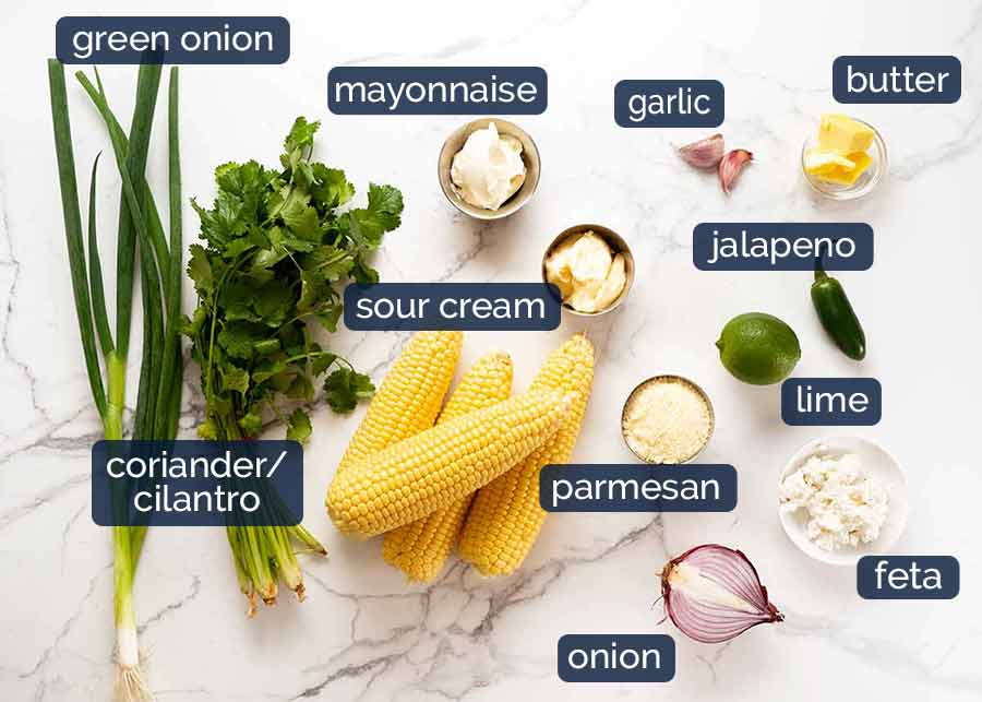 Ingredients in Mexican Corn Salad