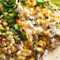 Close up of Mexican Corn Salad