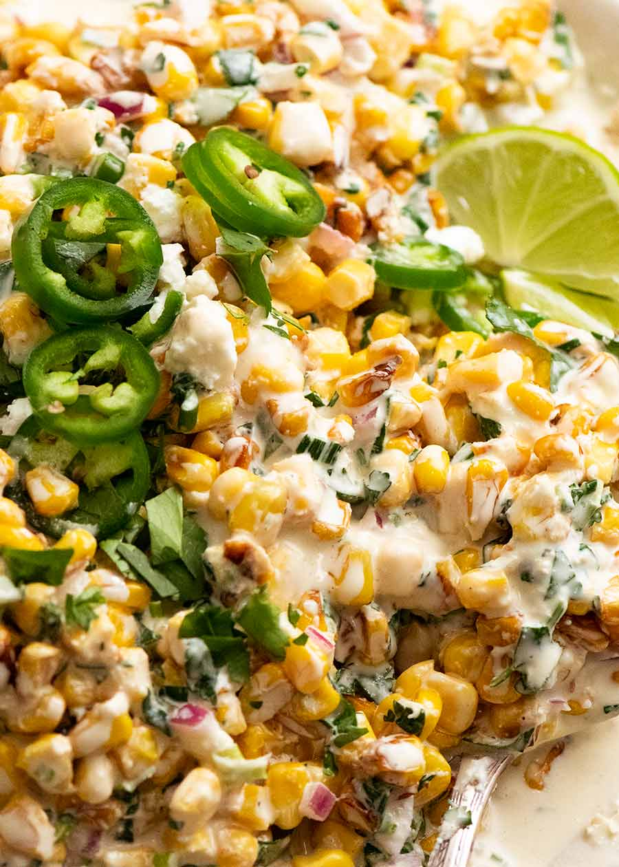 Close up of the best Mexican Corn Salad