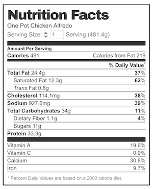 10 Ways To Lose Weight When You Have Chicken Alfredo Nutrition Facts