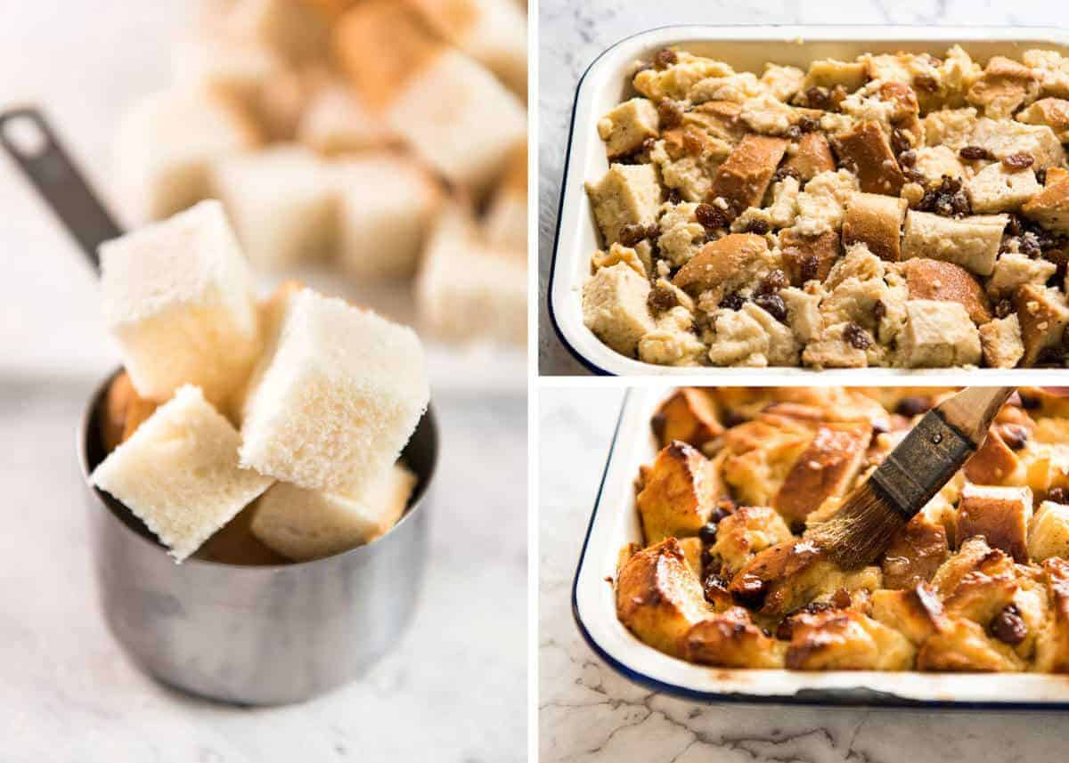 Classic Bread and Butter Pudding, buttery and golden on top and custardy on the inside. Comfort food! recipetineats.com