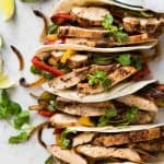 Juicy Chicken Fajitas beautifully seasoned with a homemade Fajita Seasoning. www.recipetineats.com