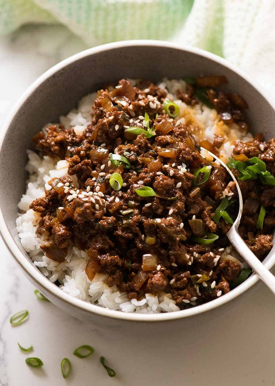 Asian Beef Bowls Super Quick Recipetin Eats