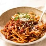 Simplicity at its best - Bacon Tomato Pasta. 5 ingredients. Utterly irresistible. www.recipetineats.com