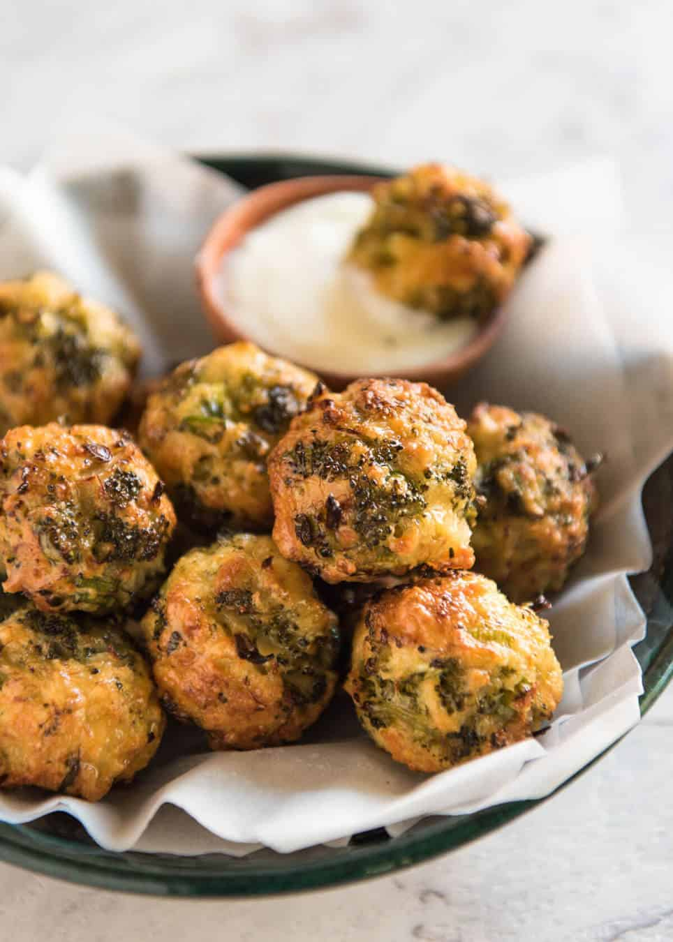 Baked Broccoli Cheese Balls | RecipeTin Eats