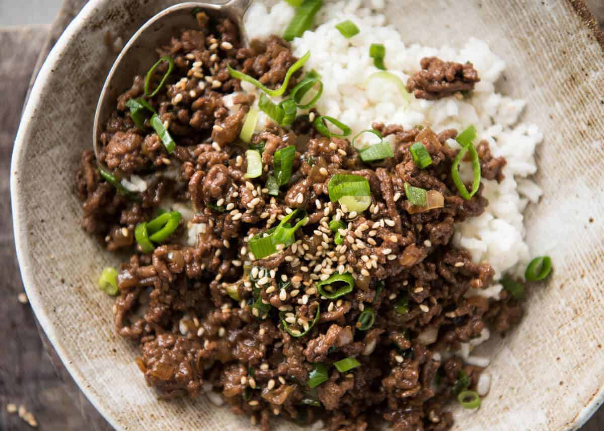 Asian beef bowls super quick recipetin eats these asian beef bowls are a terrific quick meal a simple sauce with deep savoury forumfinder Images