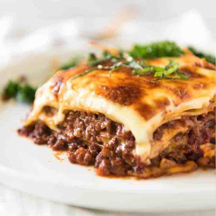 A homemade Lasagna is a thing of beauty! This is a traditional Italian Lasagna, made with a Bolognese Ragu and cheese sauce / béchamel sauce. No ricotta in sight! recipetineats.com